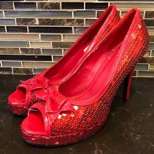 Ellie red sequin wizard of oz heels